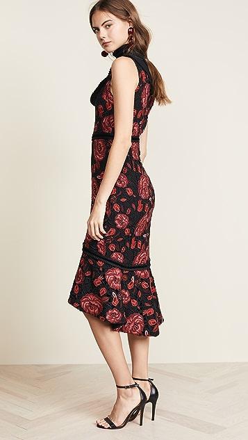alice + olivia Evelina Ruffle Dress