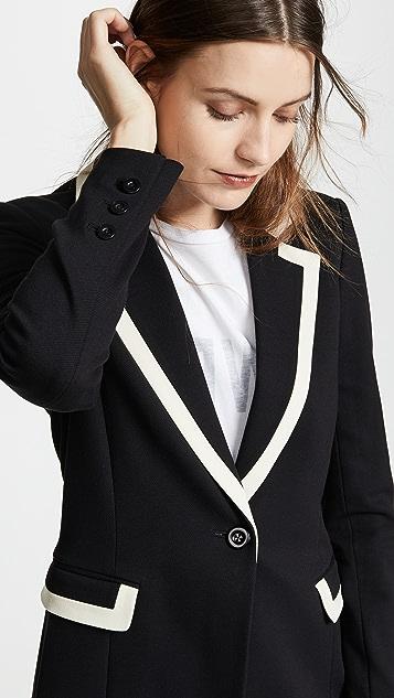 alice + olivia Chester Piped Collar Blazer
