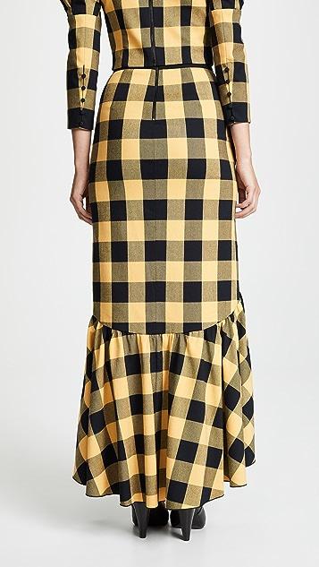 alice + olivia Arianna Ruffle Trumpet Skirt
