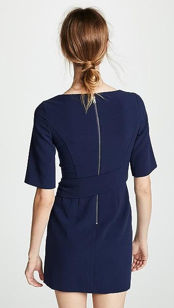 alice + olivia Virgil 船领裹身式连衣裙