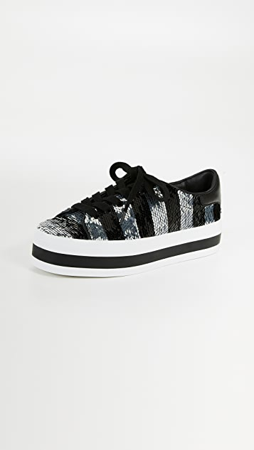 alice + olivia Ezra Glitter Sneakers