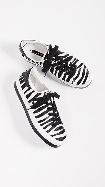 alice + olivia Ezra Zebra Sneakers | SHOPBOP