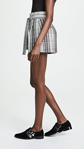 alice + olivia Laurine Paper Bag Shorts