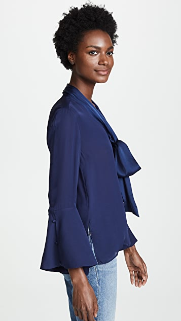 alice + olivia Meredith Tie Neck Blouse