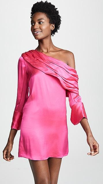 alice + olivia Serina Off The Shoulder Draped Dress