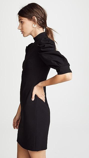 alice + olivia Brenna 泡泡袖连衣裙