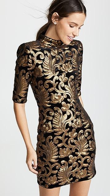 6b614877415 alice + olivia Inka Sequin Strong Shoulder Dress ...