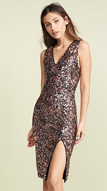 alice + olivia Natalie Sequin Embroidered Dress