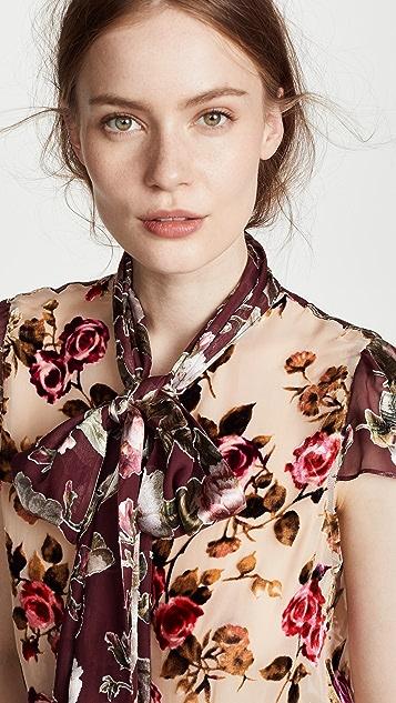 alice + olivia Jeannie Bow Collar Blouse