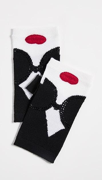 alice + olivia Loe Stace Face Fingerless Gloves