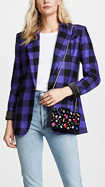 alice + olivia Lucite Stones Chunky Clutch