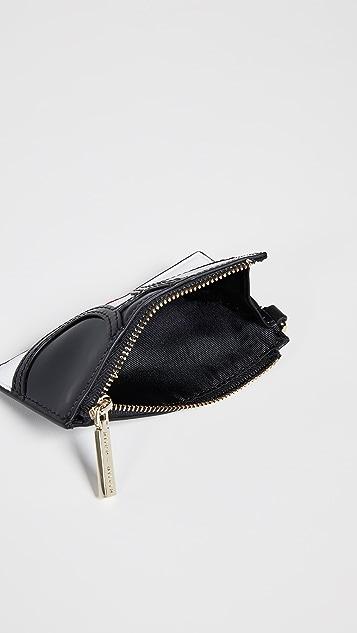 alice + olivia Regina Stace Face Zip Top Card Case
