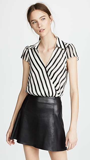 Dayer Drape Blouse by Alice + Olivia