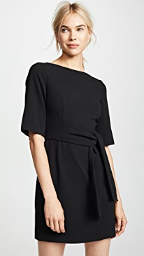 Virgil Boat Neck Wrap Dress