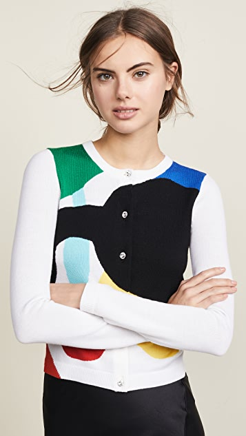 alice + olivia Ruthy Staceface Cardigan