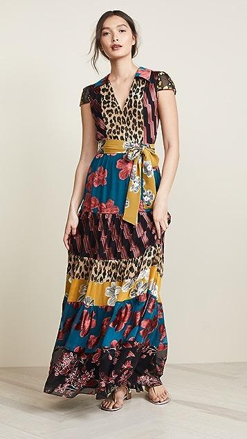 72e6c0dac alice + olivia Della Maxi Dress with Waist Tie | SHOPBOP