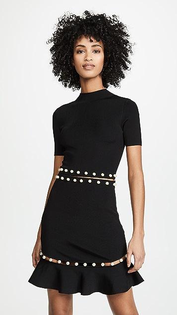 alice + olivia Evelyn Fit & Flare Dress