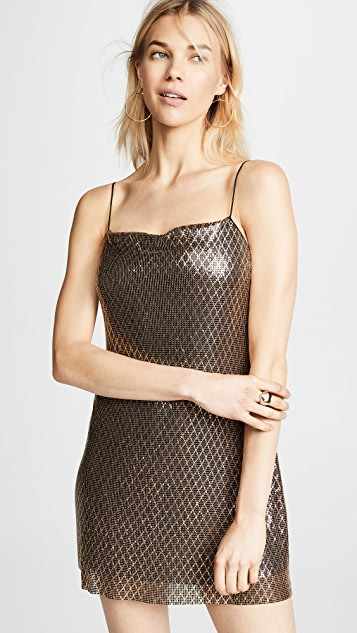 dd78af9b24 alice + olivia Harmony Chainmail Mini Slip Dress