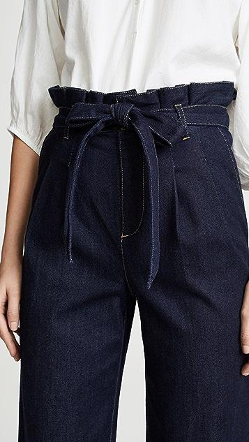 alice + olivia Ryan Paperbag Denim Pants