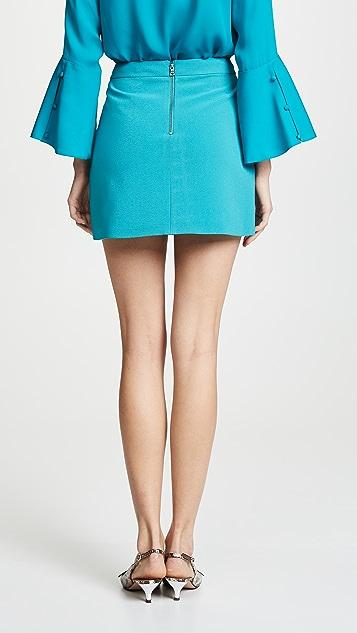 alice + olivia Dasia Asymmetrical Mini Skirt