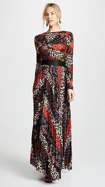 alice + olivia Katz Sunburst Pleated Skirt
