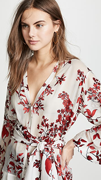alice + olivia Rosario Tie Waist Kimono Top