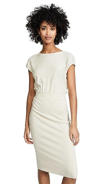 alice + olivia Shara 扭褶背面连衣裙