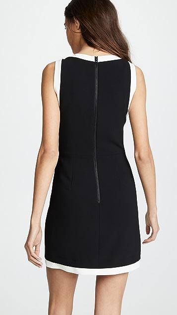 alice + olivia Truly 镶边领口合身连衣裙