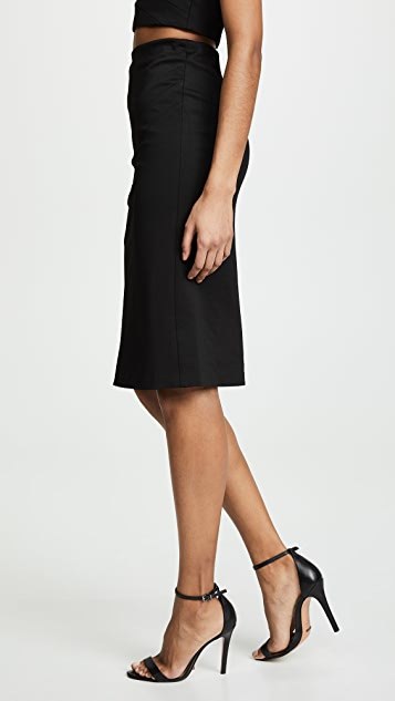alice + olivia Lavana Pleated Pencil Skirt