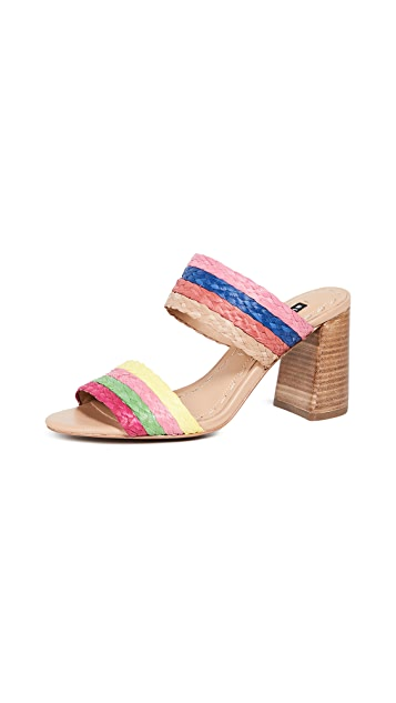 alice + olivia Leeda Double Strap Sandals