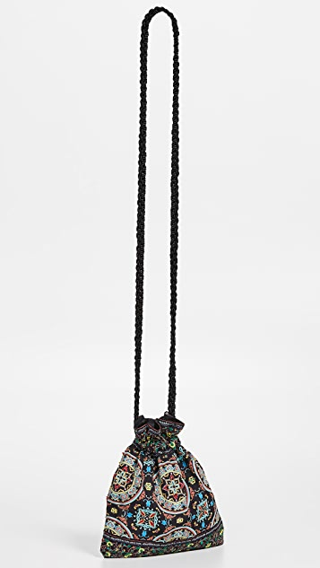 alice + olivia Rope Ornate Tile Crossbody Pouch