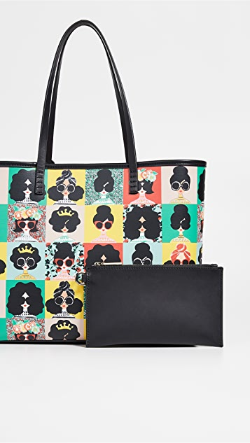 alice + olivia Veronica Staceface Photo Booth Small Tote