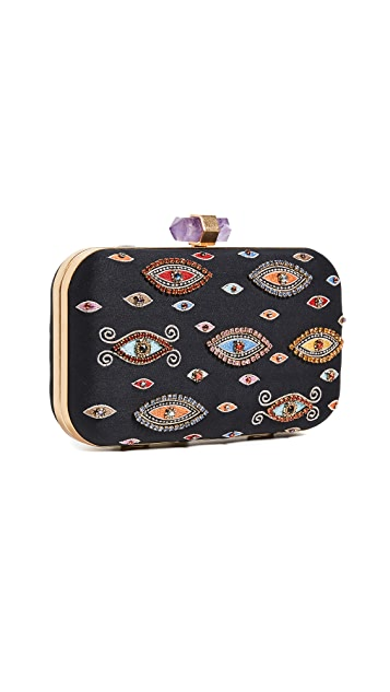 alice + olivia Shirley Evil Eye Large Clutch