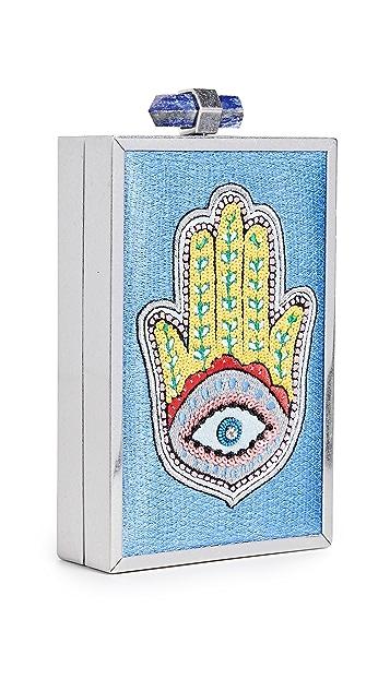 alice + olivia Клатч Sophia с декоративной отделкой в виде хамсы