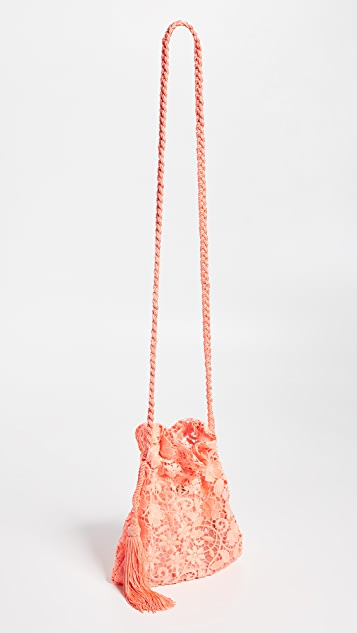 alice + olivia Rope Neon Lace Crossbody Pouch