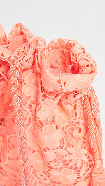 alice + olivia Кружевная неоновая сумочка через плечо
