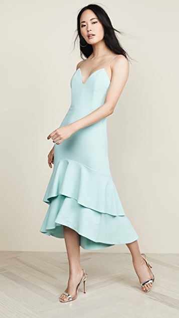alice + olivia Amina Plunging Sweetheart Fitted Dress