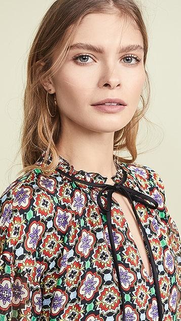 alice + olivia Arnette Tiered Tunic Dress