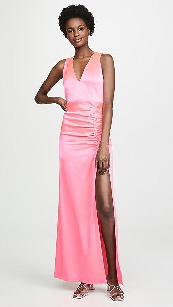 alice + olivia Diana Racerback Slip Maxi Gown