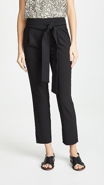alice + olivia Jessie Pull Up Slim Pants with Belt