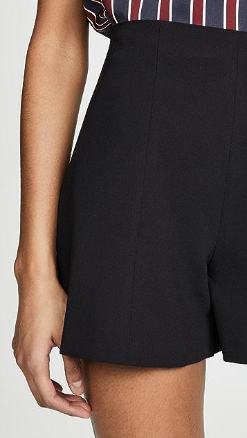 alice + olivia Расклешенные шорты с высокой талией Keira