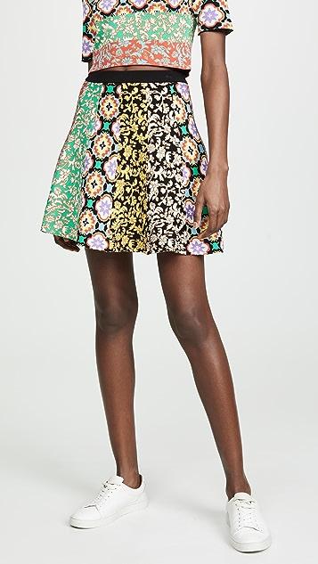 alice + olivia Bunnie Combo Miniskirt - Multi