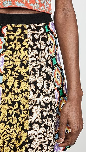 alice + olivia Bunnie Combo Miniskirt