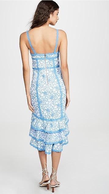 alice + olivia Многоуровневое асимметричное платье Diane