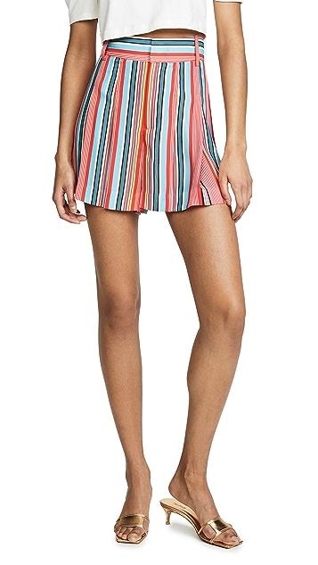 alice + olivia Scarlet High Waist Flutter Shorts