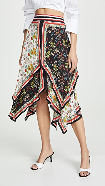 Maura Tiered Handkerchief Skirt by Alice + Olivia