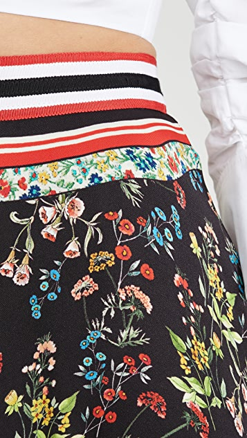 alice + olivia Maura Tiered Handkerchief Skirt