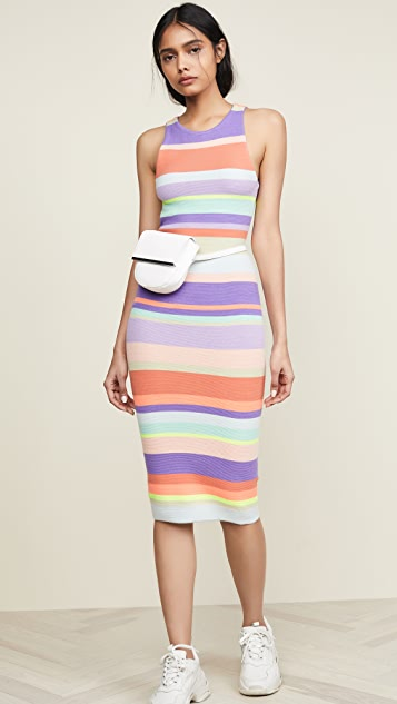 alice + olivia Jenner Striped Dress