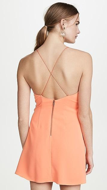 alice + olivia Katie Tie Wrap Mini Dress