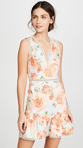 alice + olivia Kirean V Neck Dress